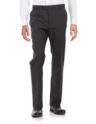 Strellson Straight Leg Wool Blend Pants Charcoal