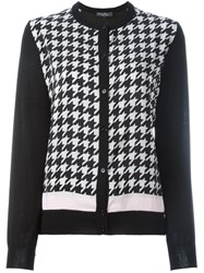 Salvatore Ferragamo Houndstooth Pattern Cardigan Black