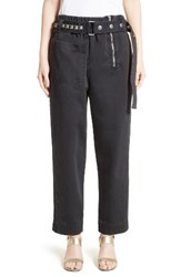 Marc Jacobs Women's Cotton Sateen Pants With Studded Belt