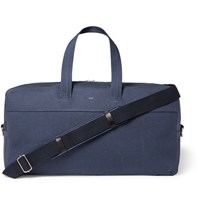 A.P.C. Xavier Cotton Canvas Holdall Navy