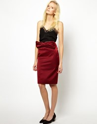Antipodium Facet Skirt Red