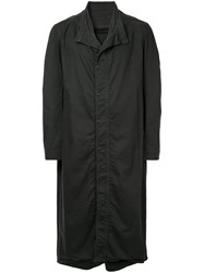 Julius Standing Collar Long Coat Black