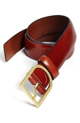 Men's Big And Tall Bosca Leather Belt Cognac