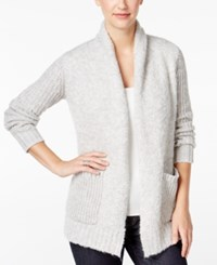 G.H. Bass And Co. Mixed Knit Boucle Cardigan Grey Dusk Combo