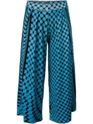 Lala Berlin Printed Pleated Culottes Blue