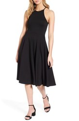 Soprano Women's Knit Midi Dress Black