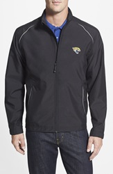 Cutter Buck 'Jacksonville Jaguars Beacon' Weathertec Wind And Water Resistant Jacket Big And Tall Black