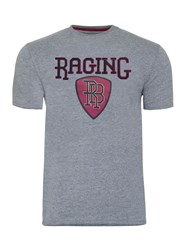 Raging Bull Men's Applique Shield Tee Dark Grey Marl