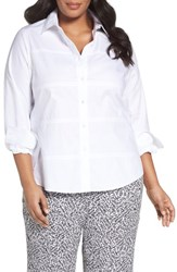 Foxcroft Plus Size Women's No Iron Cotton Shirt