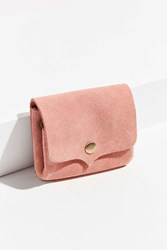 Urban Outfitters Suede Snap Belt Pouch Pink