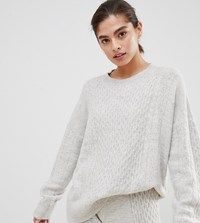 Micha Lounge Luxe Jumper In Cable Knit Co Ord Grey