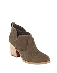Marc Fisher Ginger Leather Booties Brown