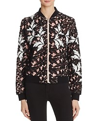Aqua Lace Bomber Jacket Black Blush