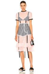 Sandy Liang Accord Dress In Pink Plaid Pink Plaid