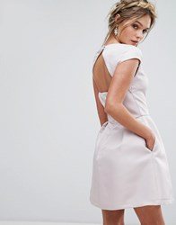 Chi Chi London Sweetheart Mini Dress With Open Back Pink