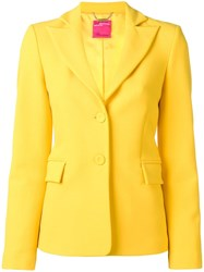 Blumarine Fitted Single Breasted Blazer Yellow