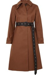 Mackintosh Roslin Belted Bonded Wool And Mohair Blend Coat Brown