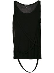 Unconditional Strap Detail Tank Top Black