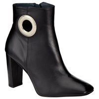 John Lewis Kin By Ola Block Heeled Ankle Boots Black Leather