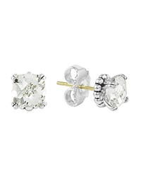 Lagos Sterling Silver Prism White Topaz Stud Earrings White Silver