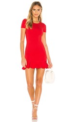 Lovers Friends Shelly Mini Dress In Red.