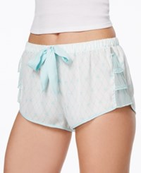 Betsey Johnson Mesh Ruffle Shorts Pearl Betty Blue