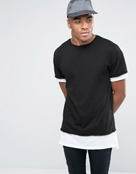 New Look Layered T Shirt In Black Black