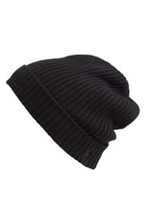 Men's Polo Ralph Lauren Cashmere And Wool Rib Knit Beanie Black Polo Black