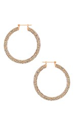 Luv Aj The Pave Baby Amalfi Hoops In Metallic Copper. Rainbow And Rose Gold