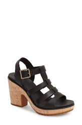 Women's Timberland 'Roslyn' Platform Sandal Black Leather