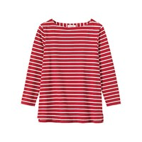 Toast Breton Stripe Top Madder White