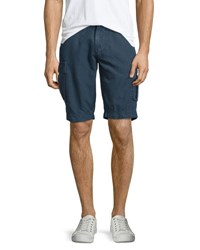 Ag Adriano Goldschmied Bunker Sulfur Cargo Shorts Sweater Blue Sulfer Sweater Bl