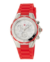 Michele Tahitian Jelly Bean Chronograph Watch Red Orange