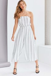 Silence And Noise Jackson Strapless Culotte Jumpsuit Cream Multi