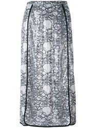 Marco De Vincenzo Embellished Polyester Midi Length Skirt White