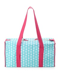 Malabar Bay Dottie Canvas Duffel Bag Aqua