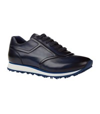 Zilli Burnished Leather Sneakers Blue