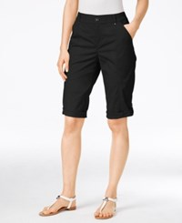 Styleandco. Style Co. Petite Cuffed Skimmer Shorts Only At Macy's Deep Black