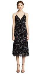 Talulah Courts Midi Dress Floral Embroidery