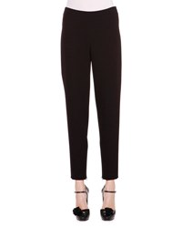 Giorgio Armani Stretch Woven Ankle Zip Pants Black
