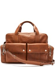 Brunello Cucinelli Grained Leather Holdall Brown