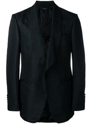 Tom Ford Textured Fitted Blazer Black