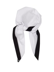 Casa Nata Cotton Headscarf White Black