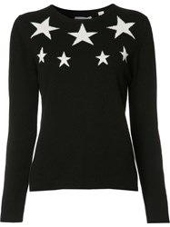 Chinti And Parker Embroidered Stars Jumper Black