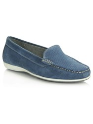 Daniel Poppleton Perforated Loafers Blue