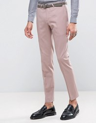 Noose And Monkey Super Skinny Suit Pants Pink