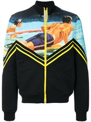N 21 No21 Surfer Print Zip Up Sweatshirt Black