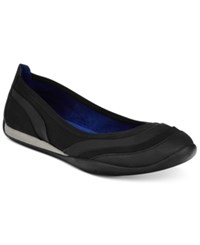 Adrienne Vittadini Voula Flats Women's Shoes Black Brushed