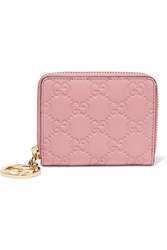 Gucci Icon Embossed Leather Wallet Pastel Pink