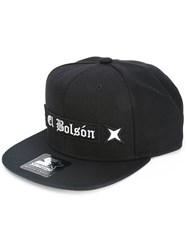 Marcelo Burlon County Of Milan Patch Embellished Cap Black